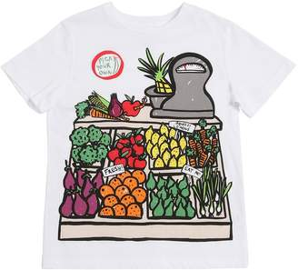 Stella McCartney Vegetable Printed Cotton Jersey T-Shirt