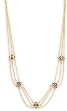 Freida Rothman Contemporary Deco Triple Strand Necklace