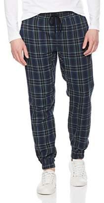 Rebel Canyon Young Men's Tartan Plaid Twill Pant Jogger Pant (