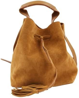 Gerard Darel Camel Suede Handbag