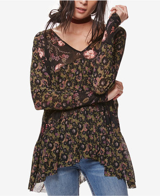 Free People Isabelle Floral-Print Tunic $88 thestylecure.com