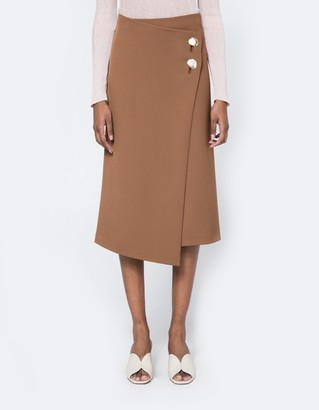 Button Detail Wrap Skirt $139 thestylecure.com