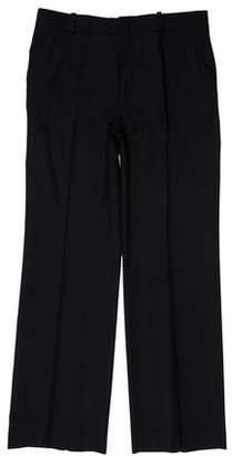 Balenciaga Flat Front Wool Pants