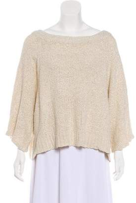 The Row Cropped Scoop Neck Sweater
