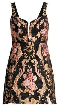 For Love & Lemons Tapestry Brocade Mini A-Line Dress