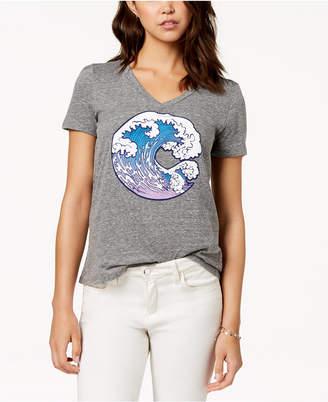 Carbon Copy Wave Graphic T-Shirt
