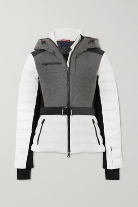 Erin Snow - Kat Color-block Quilted Merino Wool-blend Ski Jacket - Gray
