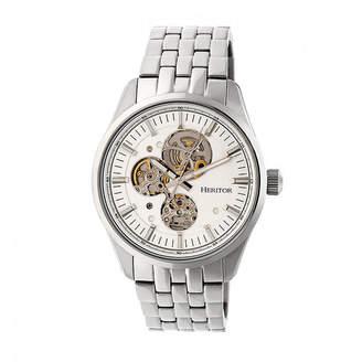 Heritor Unisex Silver Tone Bracelet Watch-Herhr6501