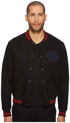 The Kooples Teddy with Embroidery On The Sleeves Jacket Men's Coat