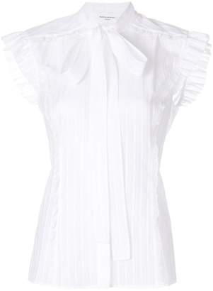 Sonia Rykiel short-sleeve bow blouse