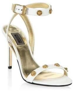 Versace Leather High Heel Sandals