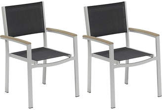 Oxford Garden Black Toshi Sling Armchairs - Set of 2