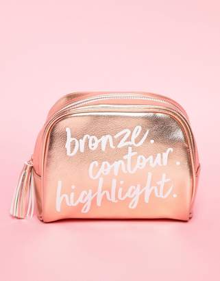 Cotton On Rose Gold Use Code Travel Cosmetic Bag