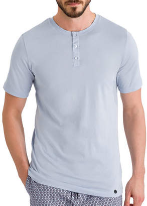 Hanro Night Day Short-Sleeve Henley Shirt