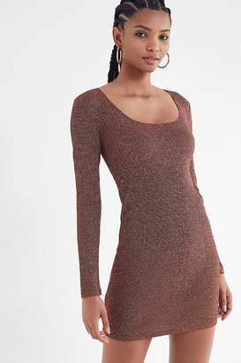 Urban Outfitters Hazel Sparkle Bodycon Mini Dress