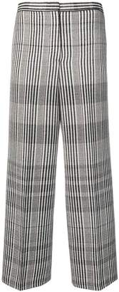 Jil Sander checked cropped trousers