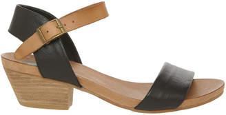 Connie Black Leather Sandal