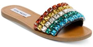 060a21e4c51 Steve Madden Serenade Rainbow Jeweled Slides