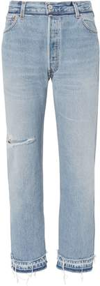 RE/DONE Stove Pipe Released Hem Jeans