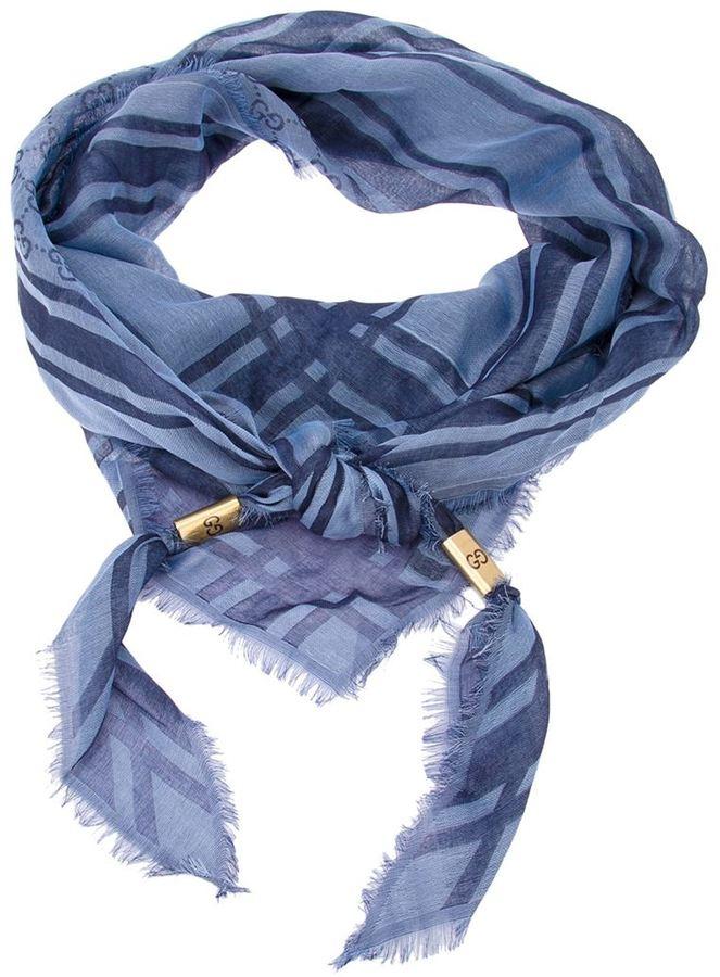 Gucci monogram print scarf