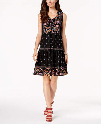 Style&Co. Style & Co Petite Printed Tiered Peasant Dress, Created for Macy's