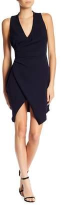 Adelyn Rae Teri Faux Wrap Sheath Dress
