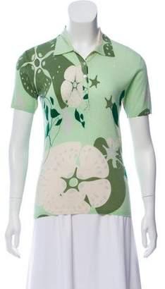 TSE Cashmere Floral Print Sweater