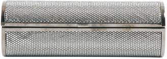 Jimmy Choo Silver Glitter Clutch Bag