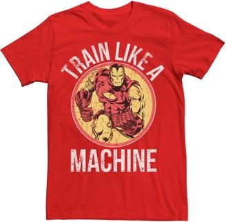 Iron Man Licensed Character Men's Marvel Train Like A Machine Tee