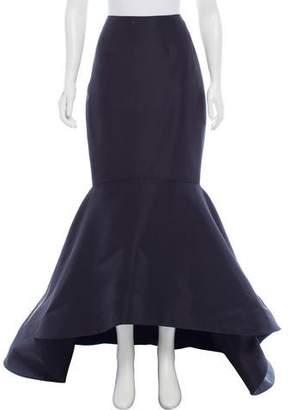 Elizabeth Kennedy Peplum Maxi Skirt
