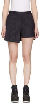 Neil Barrett Navy Techno Pinstripe Miniskirt