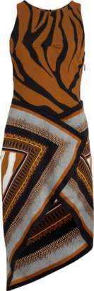 Roberto Cavalli Animal Foulard Silk Satin Dress