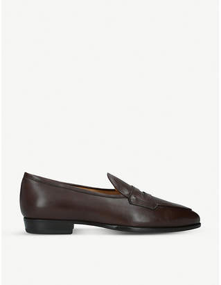 BAUDOIN & LANGE Sagan Grand leather penny loafers