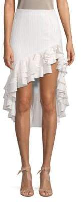 Caroline Constas High-Low Ruffle Skirt