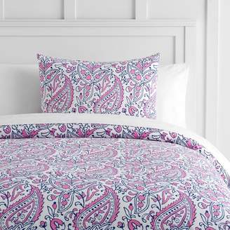 Pottery Barn Teen Tea Paisley Duvet Cover, Full/Queen, Pool/Navy