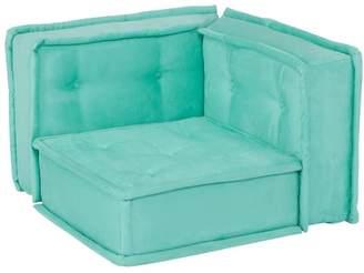 Pottery Barn Teen Corner Chair Cushion, Pool Faux Suede