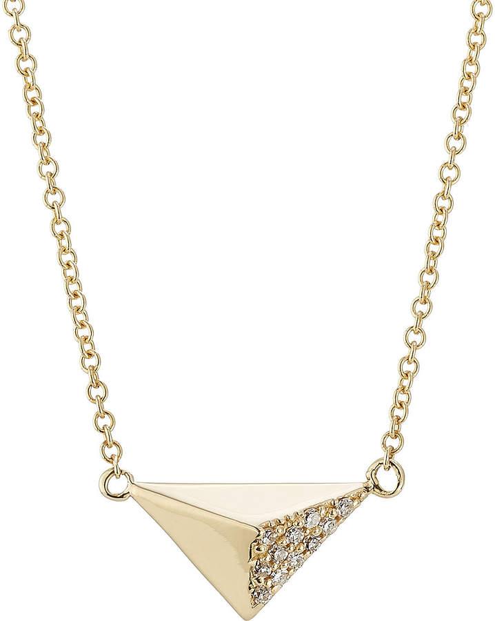 Ileana Makri 18kt Yellow Gold Necklace with White Diamonds