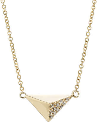 Ileana Makri 18kt Yellow Gold Necklace with White Diamonds