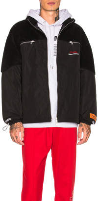"Heron Preston ""Style"" Polar Fleece Down Jacket"