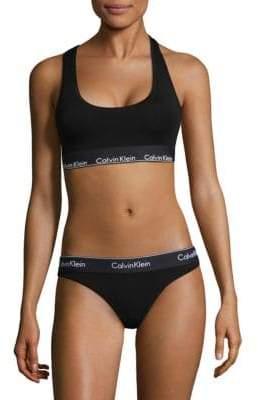 e039468bc8 Calvin Klein Underwear Women s Modern Cotton Bralette - Black - Size Medium