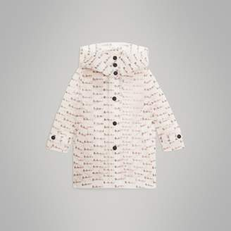 Burberry Childrens Detachable Hood Logo Print Car Coat