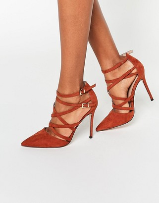 ASOS PLAYHOUSE Pointed Caged High Heels $57 thestylecure.com