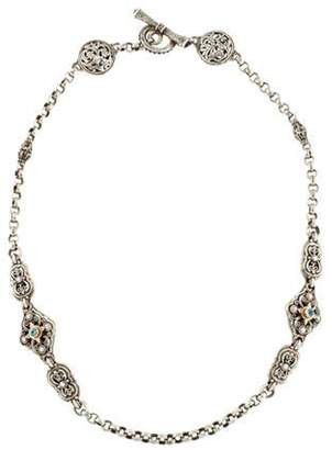 Konstantino Two-Tone Topaz & Tourmaline Scroll Station Necklace silver Two-Tone Topaz & Tourmaline Scroll Station Necklace