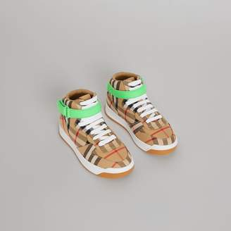 Burberry Vintage Check High-top Sneakers