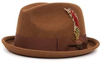Brixton Men's GAIN Short Brim Felt Fedora HAT
