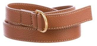 Tory Burch Leather Pull-Through Belt