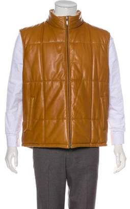 Burberry Mills Reversible Leather Vest
