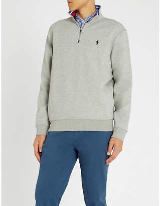Polo Ralph Lauren Funnel-neck cotton-blend sweatshirt