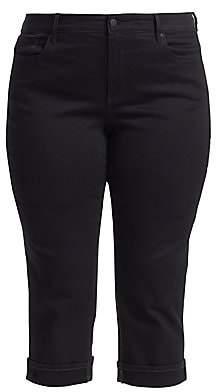 NYDJ NYDJ, Plus Size Women's Marilyn Cropped Cuffed Jeans