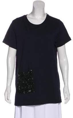 Dries Van Noten Short Sleeve Embellished Top